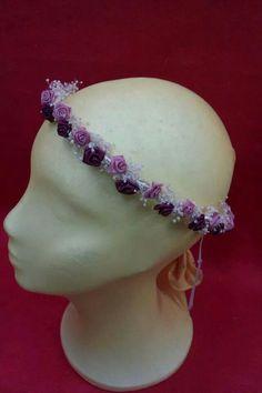Corona en rosa palo y granate