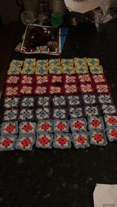 Springtime blanket squares