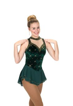 New Skating Dress Jerrys EMERALD ETIQUETTE MADE ORDER 3 WEEKS FABRICATION -217