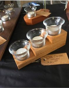 Candle Tray, Wood Candle Holders, Candles, Wood Projects, Woodworking Projects, Projects To Try, Wood Tea Light Holder, Wood Ideas, Wood Pallets