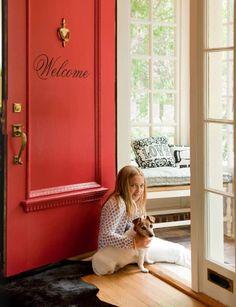 a welcoming red door   Liz Caan