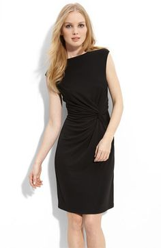 """""""An off-center twist at the waist shapes killer curves into a stretchy knit dress designed with a wide, graceful boat neck."""" Kenneth Cole New York Sleeveless Twist Waist Dress at Nordstrom, $99"""