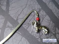 Game of Thrones House Lannister Bookmark with Lion Charm by AngelQ, $8.95
