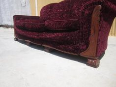 Very Lovely Vintage Art Deco Sofa Couch And Armchair This Handsome Have Solid Walnut Frames Cut Mohair Upholstery