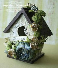 Ideas for my birdhouse... beautiful!