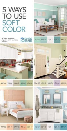 Create a peaceful atmosphere with cool tones. See more ways to use soft colors in Color for Every Room -- a free Lowe's Creative Ideas online magazine!