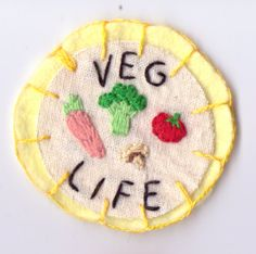 Veg Life Patch by Hanecdote on Etsy, £7.00