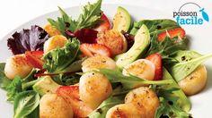 Salade de pétoncles au balsamique   Recettes IGA   Fruits de mer, Fraises, Recette rapide