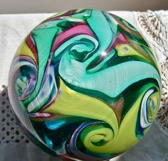 Fratelli Toso Vetreria, Murano Art Glass, multi-color abstract paperweight.