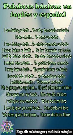 Palabras básicas en inglés y español, Clases de ingles gratis, Cursos de ingles basico gratis, Aprende ingles Conversión, Conversión de ingles, Idiomas ingles learning, Ingles rapido, Palabras en ingles con significado #inglésrápido #english #aprenderingles #aprenderinglés #learnenglish #aprenderinglés #learnenglish #lecciondeingles #hablaringlés
