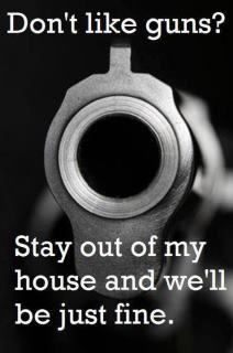 Don't like #Guns? - Stay out of my house and we'll be just fine.