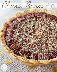 This recipe for classic pecan pie at Positively Splendid looks absolutely delicious! Perfect for Thanksgiving dessert!