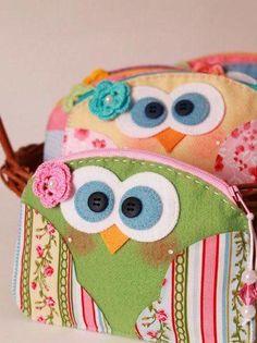 Cara-Gufi clip borsa portafoglio portafoglio portafoglio OWL