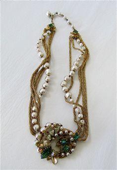 1940's Original by Robert Baroque Necklace.