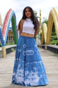 Boho Skirt / Maxi Skirt / Maxi Boho Skirt /Modest Skirt / Beach Skirt /Full Length skirt / Tie Dye Skirt / Long Skirt/ Long Skirt Modest Skirts, Boho Skirts, Bohemian Skirt, Beach Skirt, Full Length Skirts, Cotton Skirt, Summer Looks, Tie Dye Skirt, High Waisted Skirt