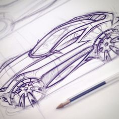 Early concept development sketch for my major project #ford #notashootingbrakeyet #conceptcar #sketch #automotivedesign #cardesign #uwtsd #novus15: