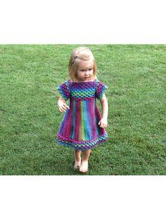 Crochet - Crocodile Stitch Girly Dress - #RAC1339