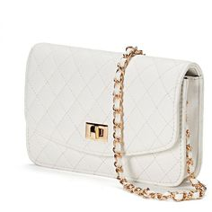 Mellow World Amanda Quilted Crossbody Wallet ($39) ❤ liked on Polyvore featuring bags, wallets, white, quilted crossbody, quilted wallet, woven crossbody bag, white bag and white wallet