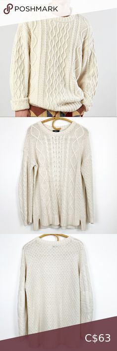Check out this listing I just found on Poshmark: UO | BDG | Fisherman Crewneck Sweater. #shopmycloset #poshmark #shopping #style #pinitforlater #Urban Outfitters #Other Crewneck Sweater, Cotton Sweater, Men Sweater, White Sweaters, Wool Sweaters, Urban Outfitters Sweaters, Striped Knit, High Collar, Plus Fashion