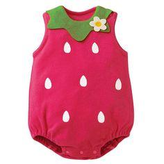 Bayi perempuan kartun baju monyet jumpsuit, Bayi balita anak tanpa lengan kancing baju bayi baru