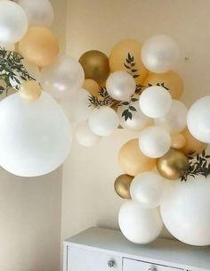 Ballongirlande weiss und gold
