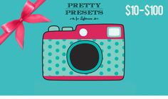 Gift Cards Available for Pretty Presets for Lightroom