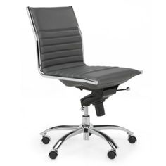 malcolm armless chair grey desks u0026 office chairs home office furniture z gallerie - White Armless Office Chair