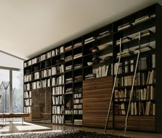 Living Room Idea - Minimalist Home library