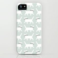White+cats+iPhone+&+iPod+Case+by+Audrey+Jeanne+-+$35.00