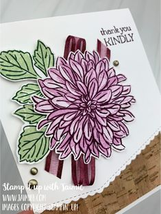 Card Tutorials, Card Sketches, Stamping Up, Creative Cards, Flower Cards, Homemade Cards, Stampin Up Cards, Thank You Cards, Cardmaking