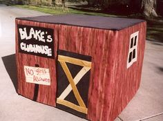This card table playhouse is adorable. I will definitely make these for my kids.