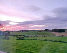 A handwoven landscape scene inspired by a beautiful Scottish sunset. Free Shipping