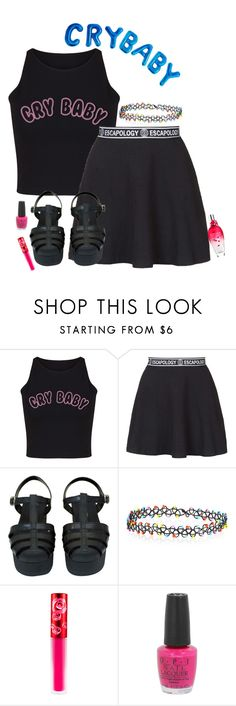 """something different. I love Melanie Martinez."" by thefriendlypsychopath ❤ liked on Polyvore featuring Escapology, Chanel, Accessorize, Lime Crime, OPI and ESCADA"