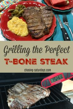 Chasing Saturdays: Grilling the Perfect T-Bone Steak Cooking T Bone Steak, How To Grill Steak, Cooking On The Grill, Cooking Tips, Veal Recipes, Grilled Steak Recipes, Grilling Recipes, Grilling Ideas, Grilled T Bone Steak