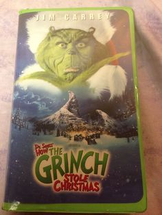Dr Seuss How The Grinch Stole Christmas Jim Carrey VHS Movie