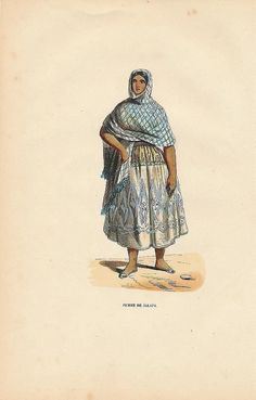 Woman of Jalapa Mexico 1844 Original Antique Hand Colored Ethnic Print | eBay