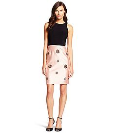Adrianna Papell Mixed Media Jersey Dress #Dillards
