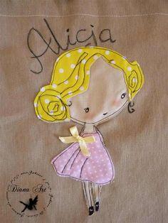 Diana Art : Worek na kapcie z imieniem
