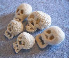 Felted Crochet   Felted & Crochet Skulls