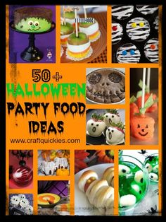 halloween party food for kids | 50+ Halloween Party Food Ideas! | Kids Party Ideas
