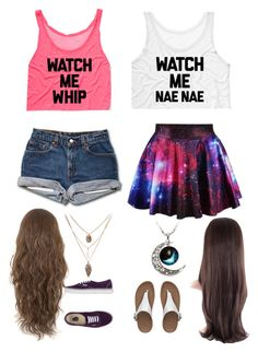 """Me and bff outfit"" by haleighmillard ❤ liked on Polyvore featuring Vans and FitFlop"