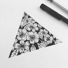 tattoo idea #triangle #flower