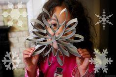 toilet paper roll craft snowflake   Facebook * Lowe's Creative Ideas Website * Pinterest * Instagram