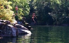 Cliff Jumping at Quarry Park. Minnesota Camping, St Cloud, Under The Stars, Low Key, Cliff, Canoe, Lakes, Wisconsin, Norway