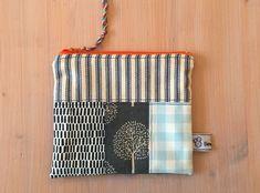 Blue patchwork zip pouch, make up bag, pencil case, travel bag, blue and recycled denim Denim Fabric, Blue Fabric, Recycled Denim, Beautiful Gifts, Blue Bags, Travel Bag, Bag Making, Great Gifts, Recycling