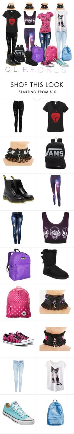 """""""School Outfiys for the Girls."""" by g4l3xyw0lf ❤ liked on Polyvore featuring Dorothy Perkins, TKO Tees, Vans, Dr. Martens, WearAll, Everest, UGG, Converse and J Brand"""