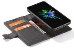 WHATIF iPhone X Wallet Detachable 2 in 1 Stand Case