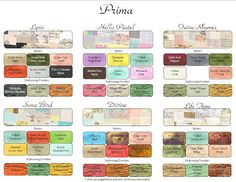 color match chart for Lindy's stamp gang sprays