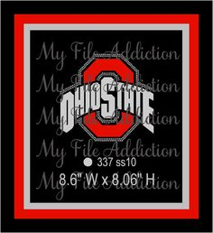Ohio State Football Instant Download Rhinestone & Vinyl SVG EPS by MyFileAddiction