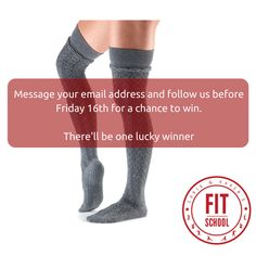 It's COMPETITION TIME for our members and friends. We're having a special Christmas Prize Draw. The lovely people at Mad Group have spotted our love of Pilates appropriate leg wear and have offered us some grip sock prizes. If you would like to be in with a chance to win the Tavi Noir Johnny over the knee socks in 'foggy' (aka 'grey') you'll just need to ensure you're on our email list. Simply DM your email to us and re-post before Friday 16th.